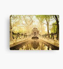 Paris - Fountain - Garden of Luxembourg Canvas Print