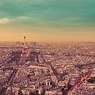 Paris - City of Lights at Sunset by Vivienne Gucwa