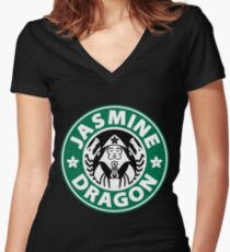 The Jasmine Dragon Women's Fitted V-Neck T-Shirt
