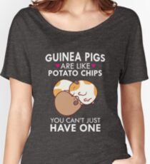 Guinea Pigs Are Like Potato Chips Funny Quote Cute  Women's Relaxed Fit T-Shirt