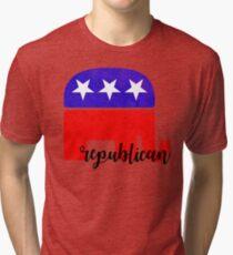 GOP Republican Sticker Tri-blend T-Shirt