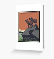 altNPS - We Will Not Be Silent Greeting Card