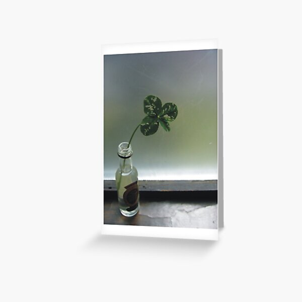 Luck In A Bottle Greeting Card