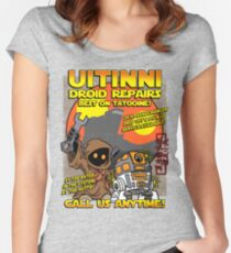Droid repairs! Women's Fitted Scoop T-Shirt