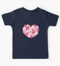 Beautiful Pink White Flowers Perfect Valentine Art Gift Kids Clothes