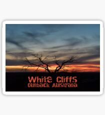 Sunset at White Cliffs - Opal mining Outback Australia Sticker