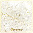 Glasgow Karte Gold von HubertRoguski