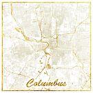 Columbus Karte Gold von HubertRoguski