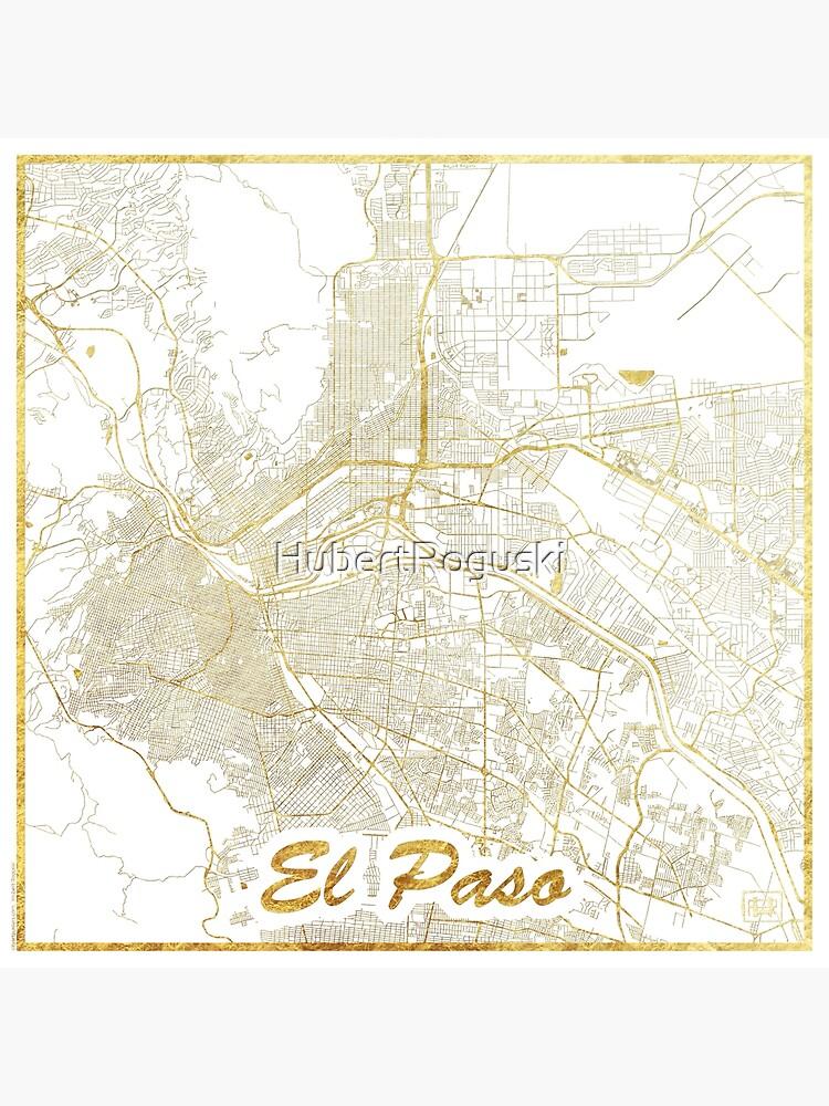 El Paso Map Gold by HubertRoguski