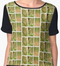 Macro Nature Triptych Green Women's Chiffon Top