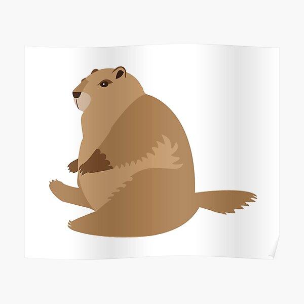 Chubby Marmot Poster