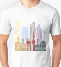 Kuwait City skyline poster T-Shirt