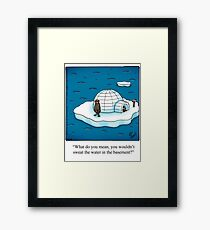 "Funny ""Spectickles"" Igloo Cartoon Framed Print"