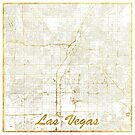 Las Vegas Karte Gold von HubertRoguski