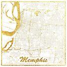 Memphis Karte Gold von HubertRoguski