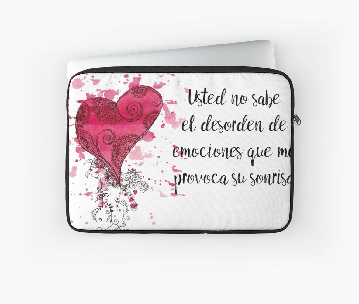 Frase De Amor Para El Dia De Los Enamorados Laptop Sleeves By