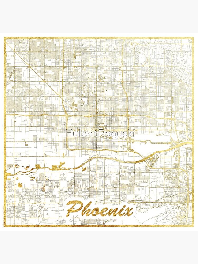Phoenix Map Gold by HubertRoguski