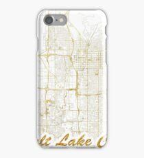 Salt Lake City Map Gold iPhone Case/Skin