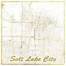 Salt Lake City Karte Gold von HubertRoguski