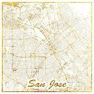 San Jose Karte Gold von HubertRoguski
