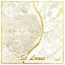 St. Louis Karte Gold von HubertRoguski