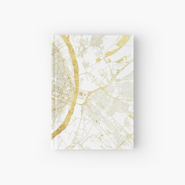 St Louis Map Gold Hardcover Journal