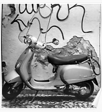 Vespa Scooter Poster