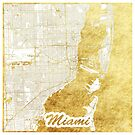 Miami Karte Gold von HubertRoguski