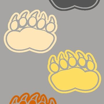 Bear Pride Paws (vertical) by grizzlygifts