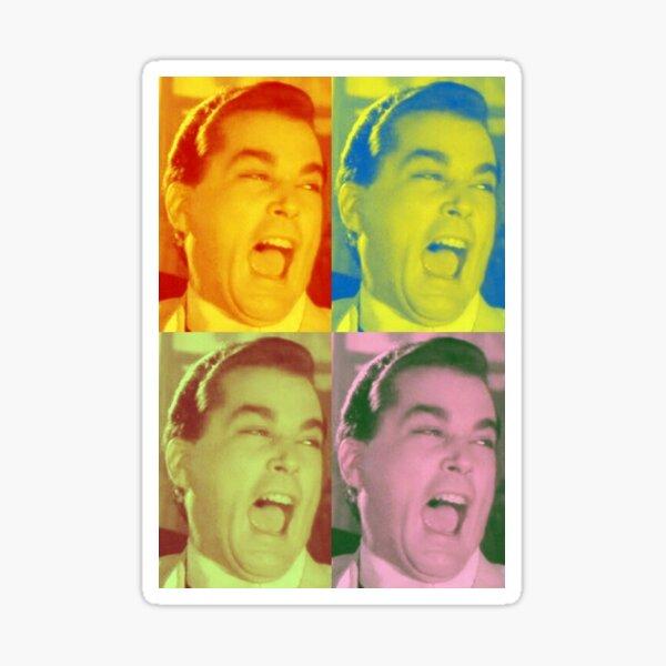 Ray Liotta Laugh mafia gangster movie Goodfellas painting multi-color Sticker
