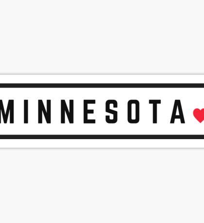 Minnesota - Minimalist #2 Sticker