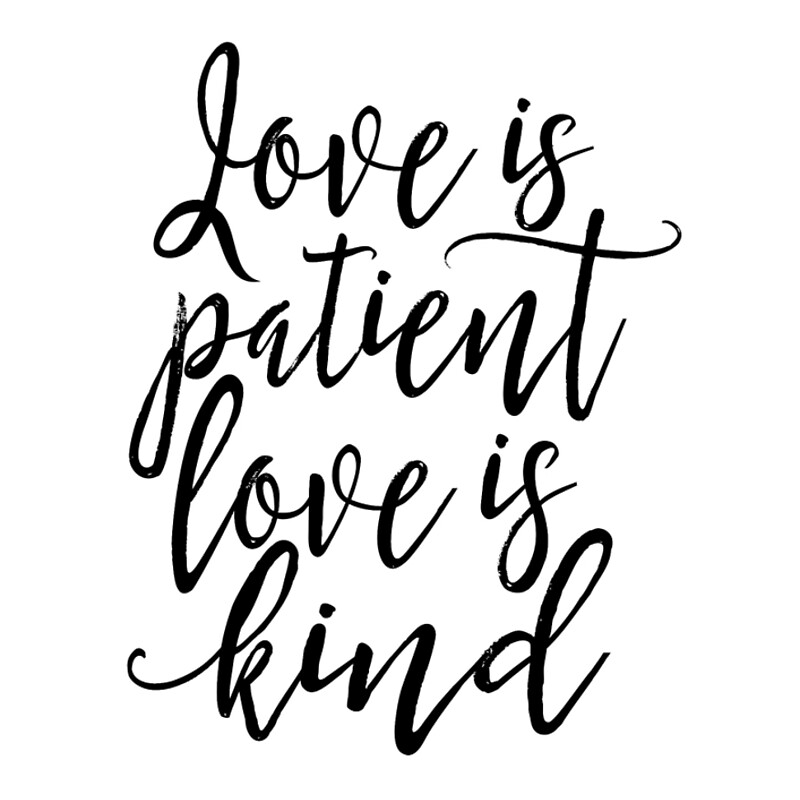 Love Is Patient Quote Delectable Love Is Patient Love Is Kindfamily Signhome Decor Wall Artquote