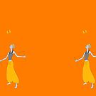 juggling with a diabolo by Jenny -  DESIGN