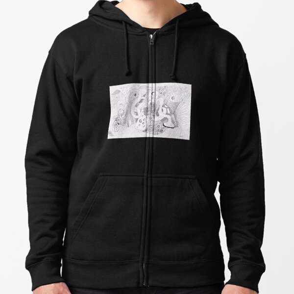 Music, Cheese, and Tubes Zipped Hoodie