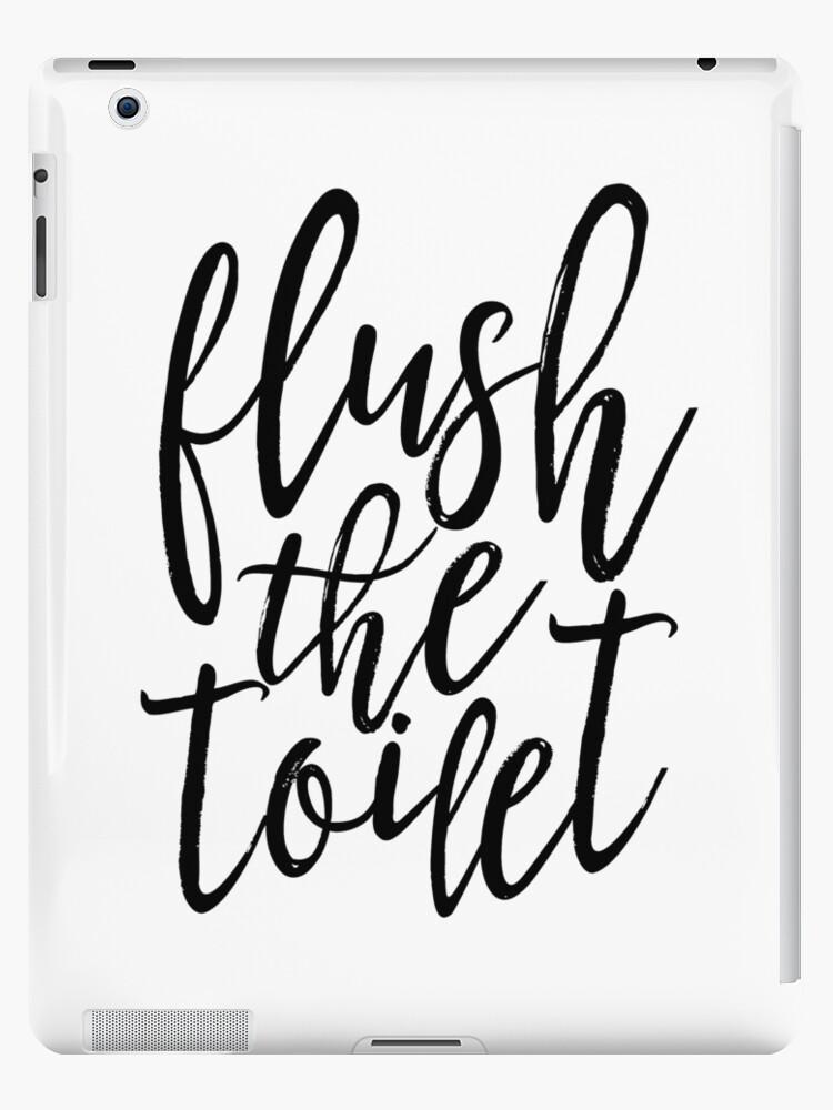 Vinilos y fundas para iPad «lavar el inodoro, la decoración del baño ...