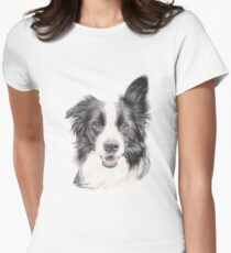 Basil - Border Collie Womens Fitted T-Shirt