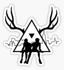 Small Black Triangle Stag Logo Sticker