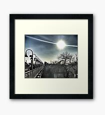 Chicago Commute  Framed Print