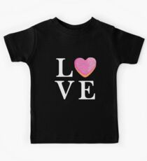 Love Donut Sprinkles Cute Letters Pink Heart Doughnut  Kids Clothes