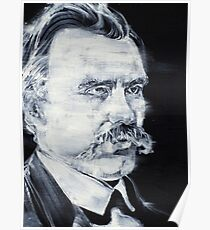 FRIEDRICH NIETZSCHE - acrylic portrait Poster