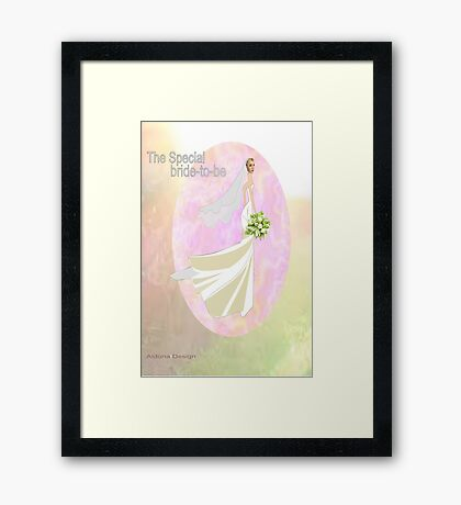 Bride to be  & flowers (5002 views) Framed Print