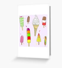 Ice Lolly Heaven Greeting Card