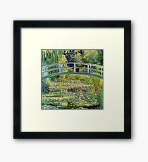 The Water-Lily Pond by Monet Framed Print
