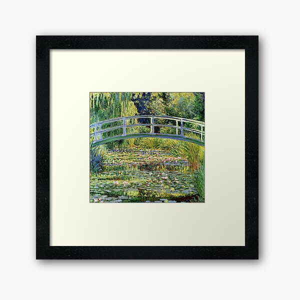 The Water-Lily Pond by Monet Framed Art Print