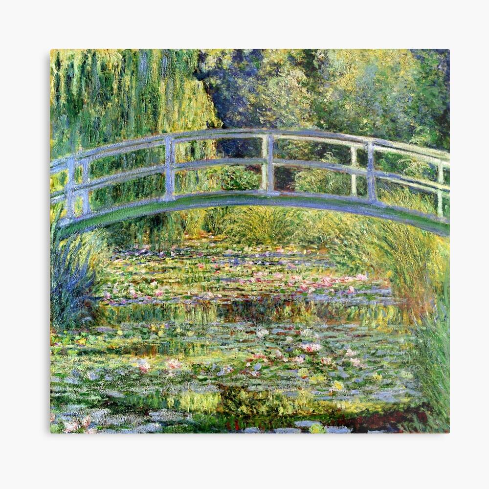 The Water-Lily Pond por Monet Lámina metálica