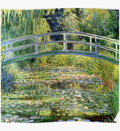 The Water-Lily Pond by Monet Poster