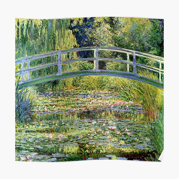 The Water-Lily Pond por Monet Póster