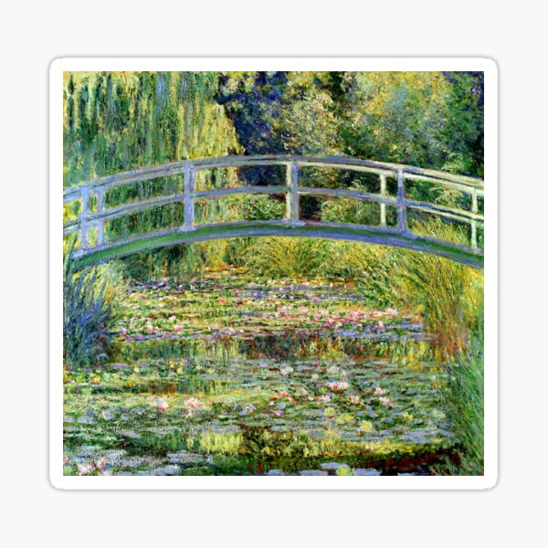 The Water-Lily Pond by Monet Sticker