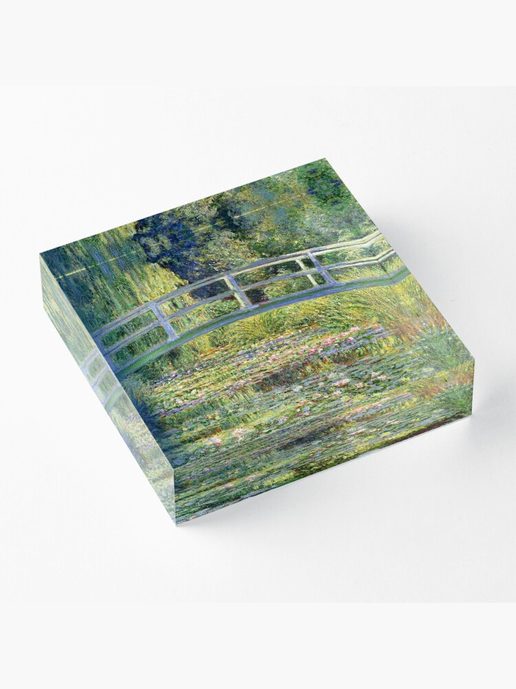 Vista alternativa de Bloque acrílico The Water-Lily Pond por Monet