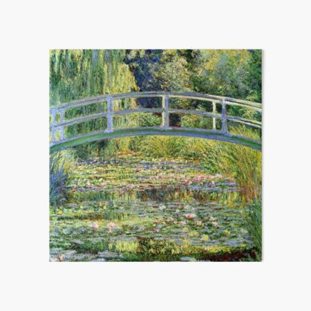 The Water-Lily Pond by Monet Art Board Print